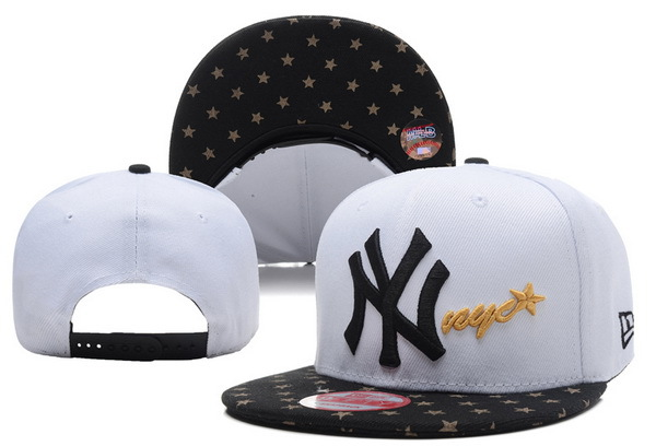 New York Yankees White Snapback Hat XDF 0528
